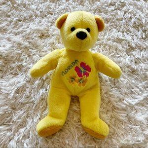 Mary Meyer yellow Florida bean bag bear souvenir
